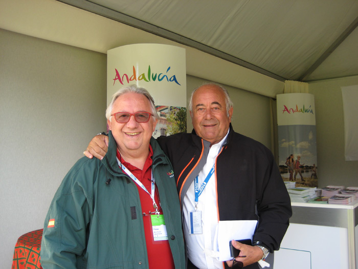 With Angel Gallardo, vice chairman of the PGA European Tour at Omega Masters 2014 at Crans Montana